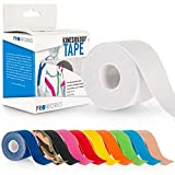 Proworks Kinesiology Tape | 5m Roll of Elastic Muscle Support Tape for Exercise, Sports & Injury Recovery - White