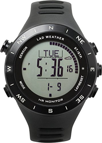 [LAD WEATHER] Multifunctional Watch Altimeter/ Barometer/ Compass/ Heart Rate Monitor/ Weather Forecast Sports/ Outdoor/ Fitness - Altimeter Chronograph Watch