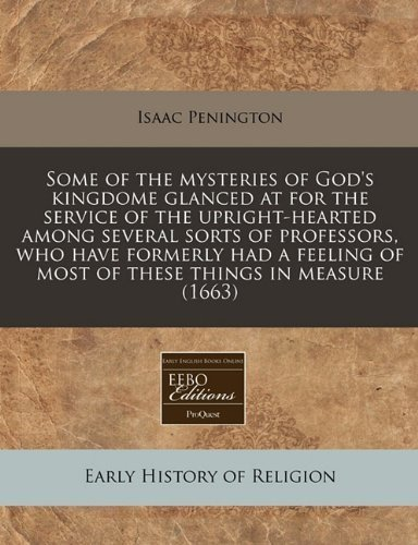 Some of the mysteries of God