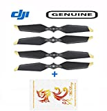 Mulong DJI Genuine Low-Noise Quick-Release Propellers for Mavic Pro or Mavic Pro Platinum, 2 Pairs DJI 8331 Gold Propellers and 1pcs Mulong Sticker