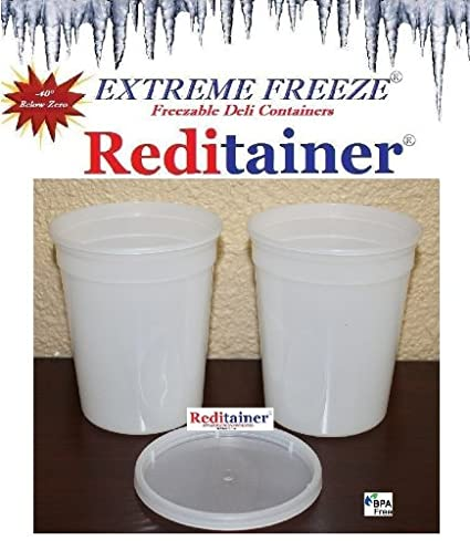 Reditainer Deli Food Storage Containers with Lid 24-Pack 32-Ounce