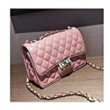 Purses and Handbags Flap Small Lingge Crossbody Bag Laboy Shoulder Bag for Girls -Pink Color