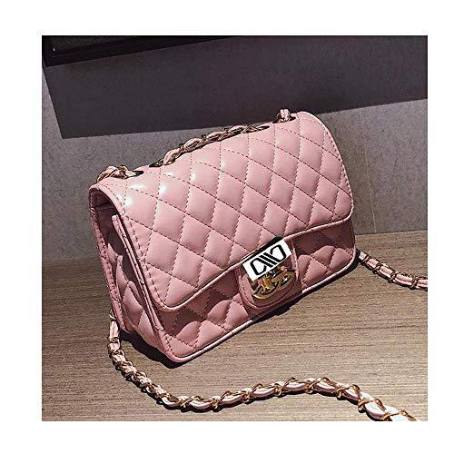 (Purses and Handbags Flap Small Lingge Crossbody Bag Laboy Shoulder Bag for Girls -Pink Color)
