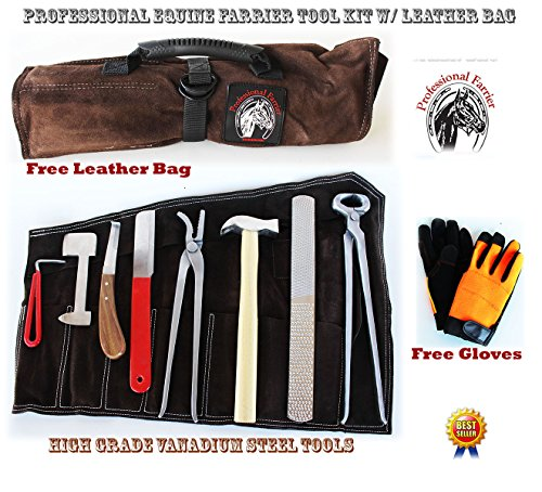 Horse Farrier Tool Hoof Shoe Grooming Tool Kit Nipper Clinch Rasp Knife 98437 by ProRider USA