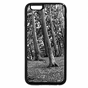 iPhone 6S Case, iPhone 6 Case (Black & White) - Leaning trees