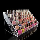 1-Pcs Nice Popular Hots Nails Polish Organizers Layers Holder Acrylic Gift Cube Box Color Transparent 5 Tier Style #08