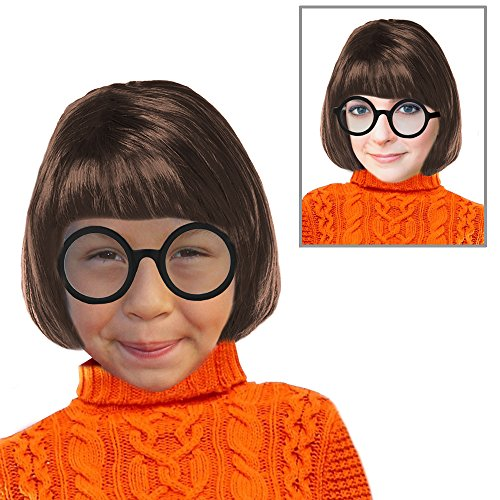 Velma Wig and Glasses Velma Wig Scooby Doo Velma Wig for Girls Velma Costume (Scooby Doo Costumes For Adults)