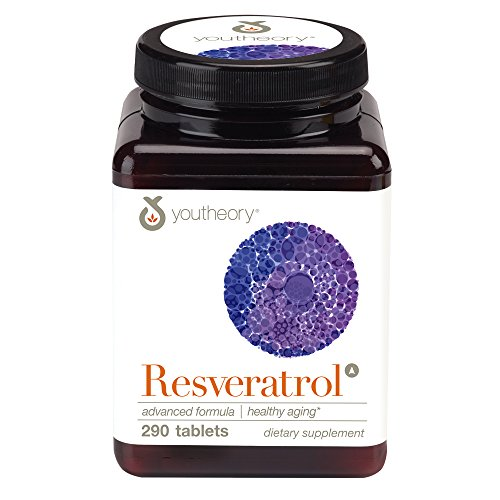 Youtheory Resveratrol Advanced Anti-Aging Formula with ResVida, 290 Count (1 Bottle)