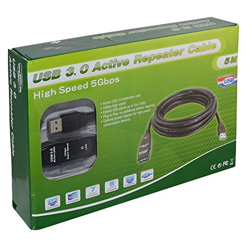 USB 3.0 AM AF Extension Cable 5 Meters - 1