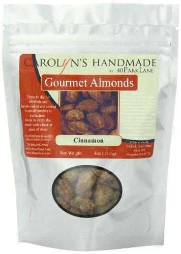 Carolyn's Handmade Gourmet Platinum Snack Bag, Cinnamon Almonds, 4 Ounce