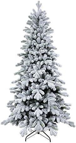 XONE Albero di Natale Cervino Slim 240 cm – Innevato e folto   Albero Bianco Artificiale in PVC e PE Effetto Real Touch