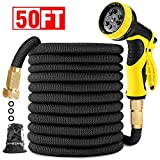 Best Garden Hose 50 Fts - Garden Hose 50FT-Expandable Water Hose with Double Latex Review