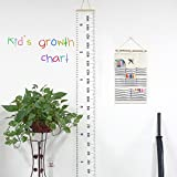 Besego Kids' Growth Chart, Hanging Height Chart for Baby, The Best Gift as Measuring Tape&Wall Décor& Photography props & Drawing Canvas of The Child's Room- 79'' × 7.9''