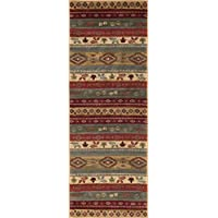 Universal Rugs NTR7301 3x8 Misty Elk Runner Rug, 2.7 x 7, Multi-Color