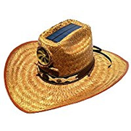 ff9572b44cb Cooling Sun Straw Solar Men s Palm Leaf Cowboy Hat w. Band - Import It All