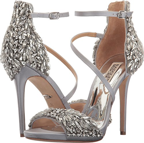 Badgley Mischka Women's Selena Silver Satin 6.5 M US