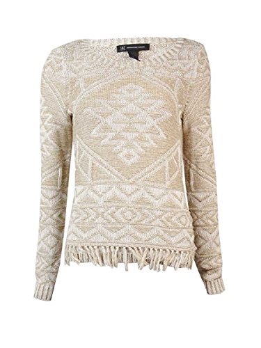 INC Womens Tribal Sunrise Knit Pattern Pullover Sweater Beige XL (Inc Concepts Clothing compare prices)