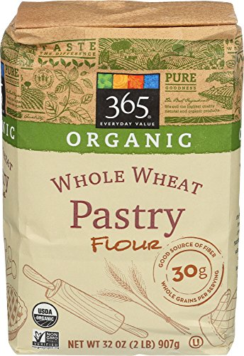 365 Everyday Value, Organic Whole Wheat Pastry Flour, 2 LB (Best Flour For Pastry)