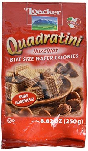 Loacker Quadratini Hazelnut Wafer Cookies, 8.82-Ounce Package