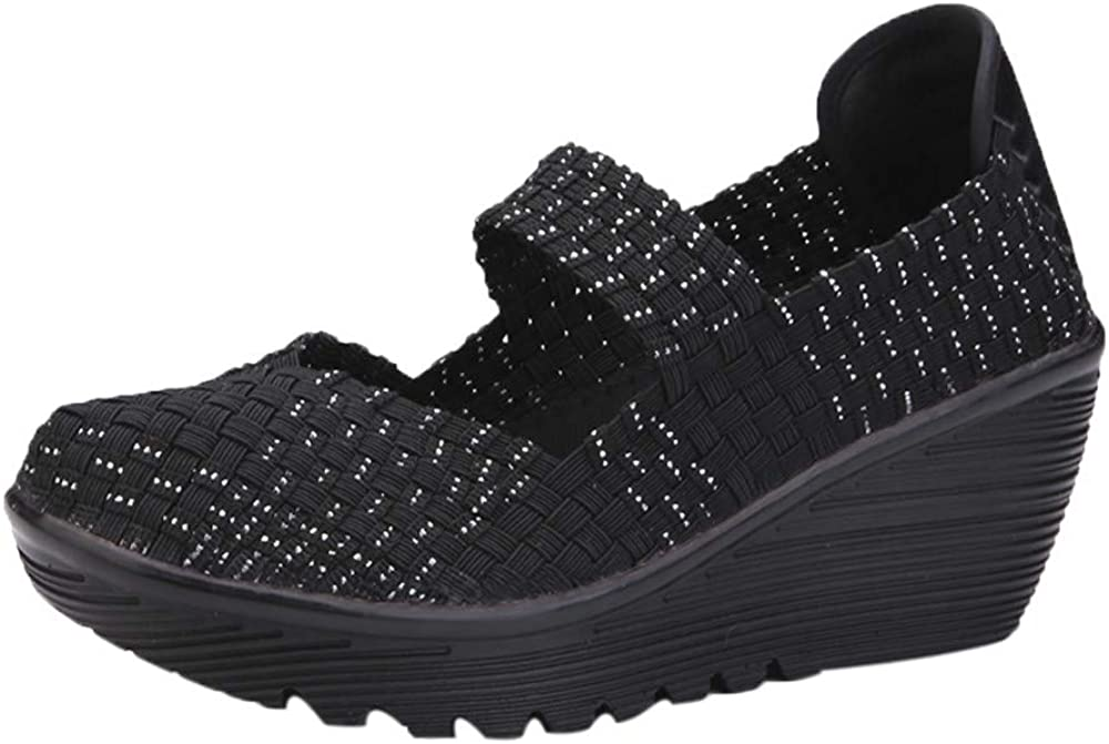 Mocasines Zapatos no Tejidos de Mujer, Calzado Deportivo Transpirable de otoño elástico Alpargatas Merceditas Sandalias