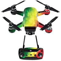 Skin for DJI Spark Mini Drone Combo - Rasta Rainbow| MightySkins Protective, Durable, and Unique Vinyl Decal wrap cover | Easy To Apply, Remove, and Change Styles | Made in the USA