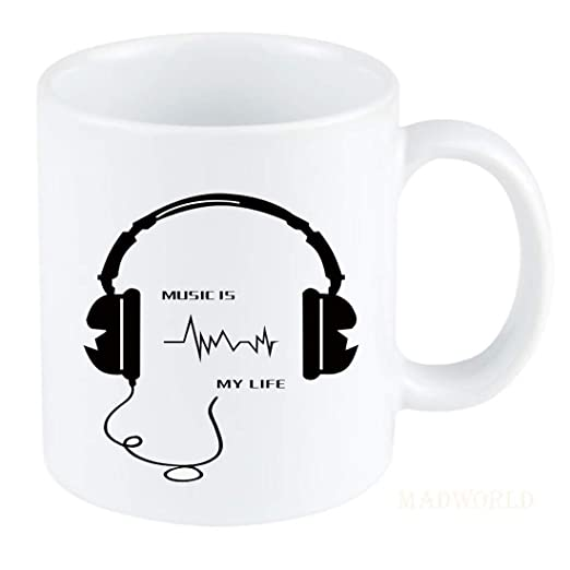 Buy Music Is My Life Quotes Printed Ceramic White Coffee Milk Mug Best Gift For Brother Sister Girlfriend Patriotic Day For Family Friends Online At Low Prices In India Amazon In