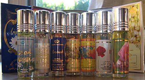 Al-Rehab 6ml Perfume Oils - Bestsellers 04 thru 6 - White Musk - Choco Musk - White Full by Al-Rehab