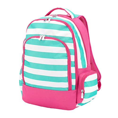 Price comparison product image Reinforced Design Water Resistant Backpack (Skylar Pink Aqua Stripes)