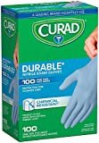 Curad Nitrile Exam Gloves, One Size Fits Most, 100 Count (Pack of 2)