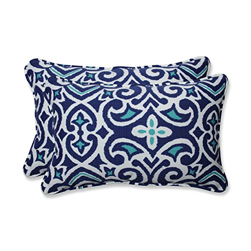 Buy blue damask throw pillows