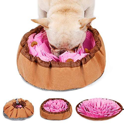 LIVACASA Snuffle Mat for Dogs Washable Pet Feeding Nosework Treats Mat Puzzle Training Toy for Dogs Large Medium Puppies…