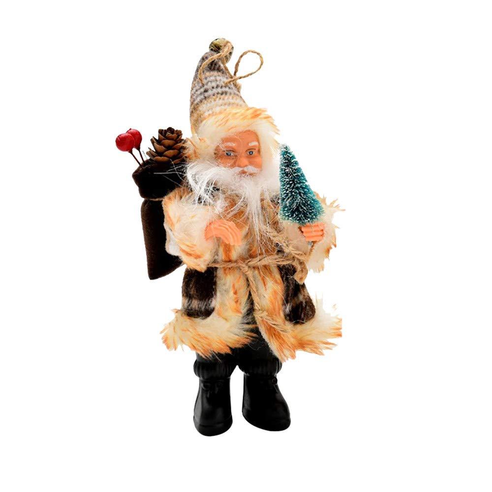 Lovewe Christmas Santa Claus Hanging,Christmas Tree Decor,Candy Bag Ornaments,Xmas Decor,Santa Claus Party Decor (Coffee, S)