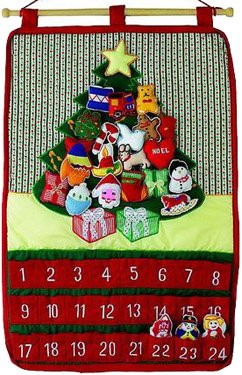 Holiday Tree Fabric Advent Calendar