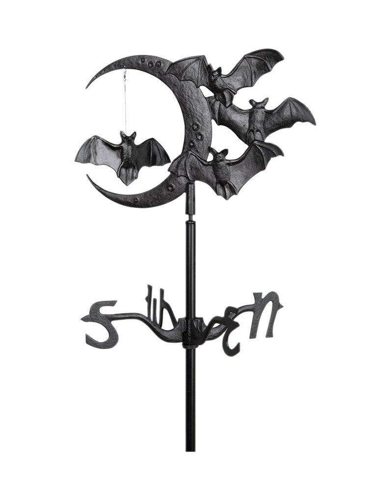 Amazon.com : Whitehall Products Bat And Moon Garden Weathervane, Black :  Witch Weathervane : Garden U0026 Outdoor