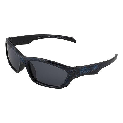 e47c8fda9dea Kids Flexible Rubber Sunglasses-UV Protection and Polarized Lenses for kids  (Black Spider Web