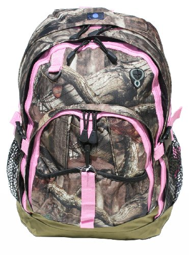 Mossy Oak Backpack with Pink Trim