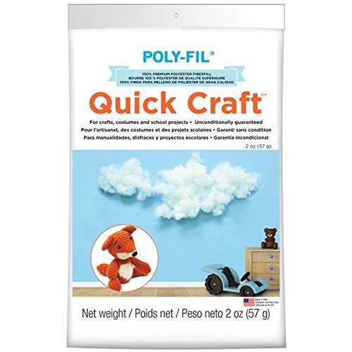 Fairfield PF2QC 2-Ounce Quickcraft Polyester Fiber Fill, White