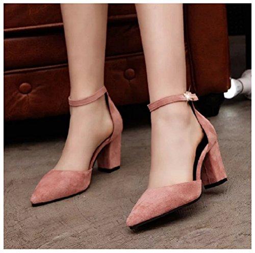 Pink Hanxue Sandals Womens Heeled Sandals Strappy Dress wfYwSRq