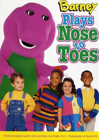 By Margie Larsen Barney Plays Nose To Toes [Board book]