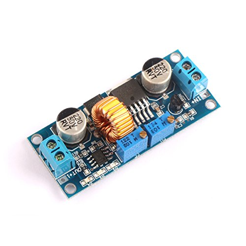 DROK 091016 DC-DC Buck Converter 4-38V Step-down Voltage Regulator Module Adjustable Current 5A Max 75W High Power Volt Power Supply Transformer Board with Constant Current & Voltage
