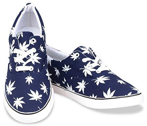Hipster Mens Marijuana Weed Leaf Skate Shoe