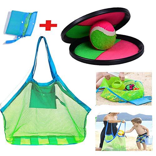 lonko5DING Beach Bag , TOODOO Toss and Catch Balls Game , Beach Ball, Ball Catch,Beach Game ,Suitable for Sports, (Beach Bag 1PCS +Beach racquet1 Set)