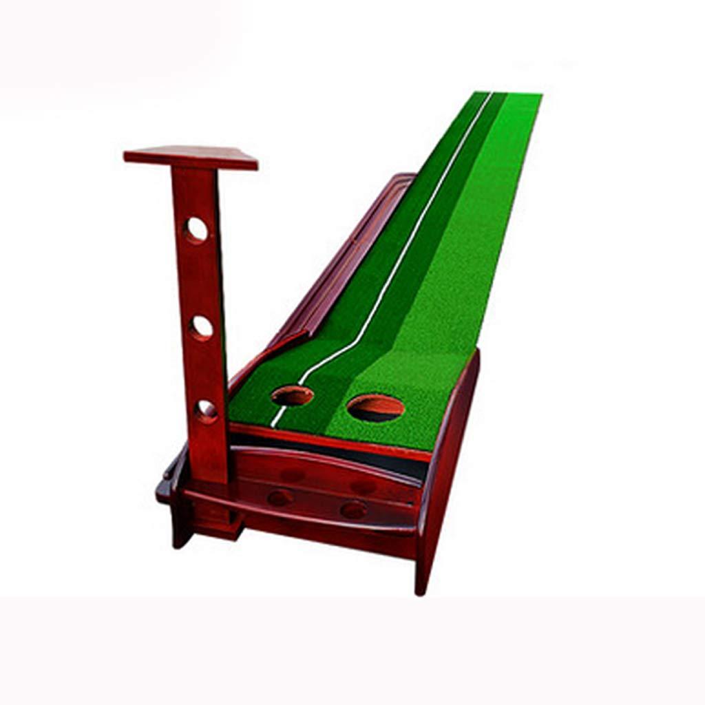 ゴルフマット、2色グラスダブルボールホールデザイン、自動リターンボール、シミュレーションエクササイザ、室内屋外 B07H2R4SGG