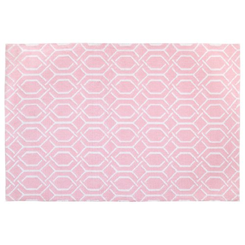 Little Love by NoJo Plush Nursery Rug, Pink Trellis, 3'9