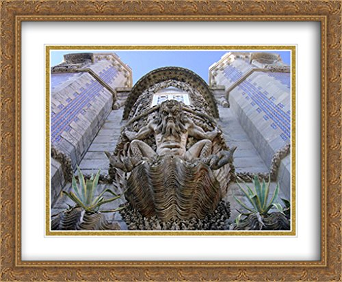 Sintra Series (Pena Palace, Sintra, Portugal 2x Matted 34x28 Large Gold Ornate Framed Art Print by The Cityscape Art Print Series)