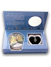 """Sterling Silver Freshwater Cultured Wish Pearl in Oyster Kit Heart Cage Locket Necklace, 18"""""""