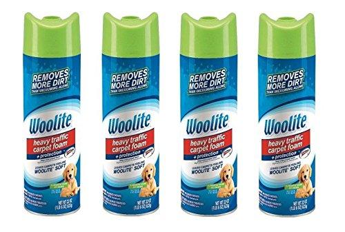 Woolite Heavy Traffic Carpet Foam + Protection Cleaner, 22 fl oz (Pack of 4)