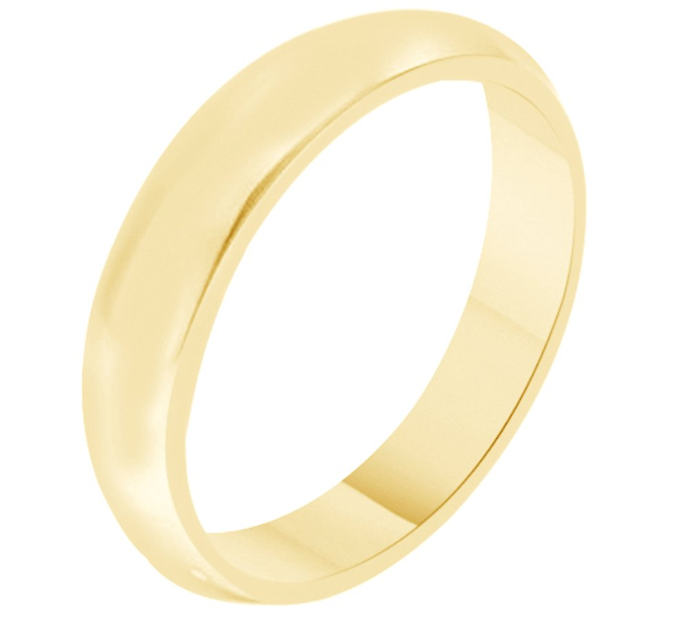 Solid 10k Yellow Gold 5MM Comfort Fit Men & Women Wedding Band Ring