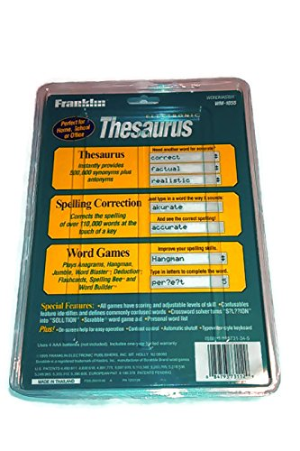Franklin Electronic Thesaurus Wordmaster 1055