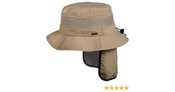 23cbfd213ef4fb Amazon.com: Stetson No Fly Zone Insect Shield Nylon Boonie Sun Shield Hat  (L): Clothing